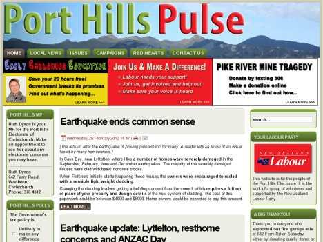 Port hills pulse official website www porthillspulse org nz port hills